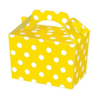 Yellow Polka Dot / Spot Meal Party Box